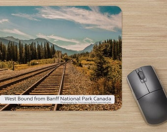 The Office Combo, Free Delivery, Landscape Photography, Train, Banff National Park, digital, Alberta Canada, Rocky Mountains, Photography.