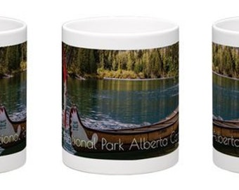 Canadian Landscape Coffee Mug, Free Delivery, Train Photography, Banff National Park, Cup, Rocky Mountains, Photography, Perfect Gift Idea.