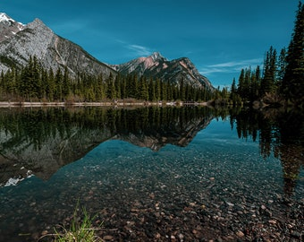 Mount Lorette Ponds Kananaskis Alberta, Mouse Pads, Free Delivery, Landscape Photography, Combo, digital, Rocky Mountains, Hiking, Camping.