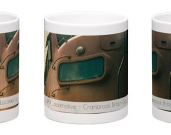 Coffee Mug, Free Delivery, Landscape Photography, Train, Banff National Park, Cup, Alberta Canada, Rocky Mountains, Photography.