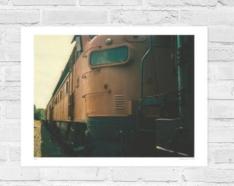 Cranbrook British Columbia, Train, Nature, Wall Art, Fine Art, Landscape, Large Print, Photography, Canada, Rockies, Industrial, awesome.