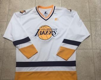 c1e3f66e75c Los Angeles Lakers Authentic Vintage Purple Starter Hockey Jersey