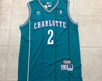 343c50205a4d Charlotte Hornets Larry Johnson Teal Swingman Basketball Jersey