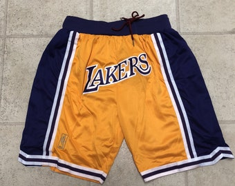 f64087b7dc27 Los Angeles Lakers Yellow Swingman Jersey Shorts