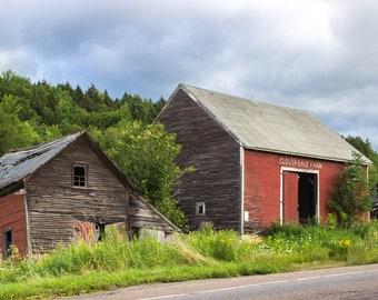New England Photography - Cloverdale Farm Barn Print - Stowe, Vermont
