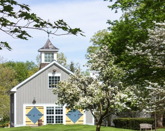 New England Photography - New Canaan Historical Society Barn Print - New Canaan, Connecticut