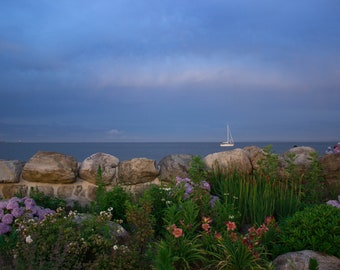 New England Photography - Beach at Dusk Print - Greenwich, Connecticut