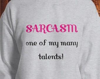 Non sono sempre del sarcasmo a volte da Uomo Felpa Maglione Pullover Divertente Regalo