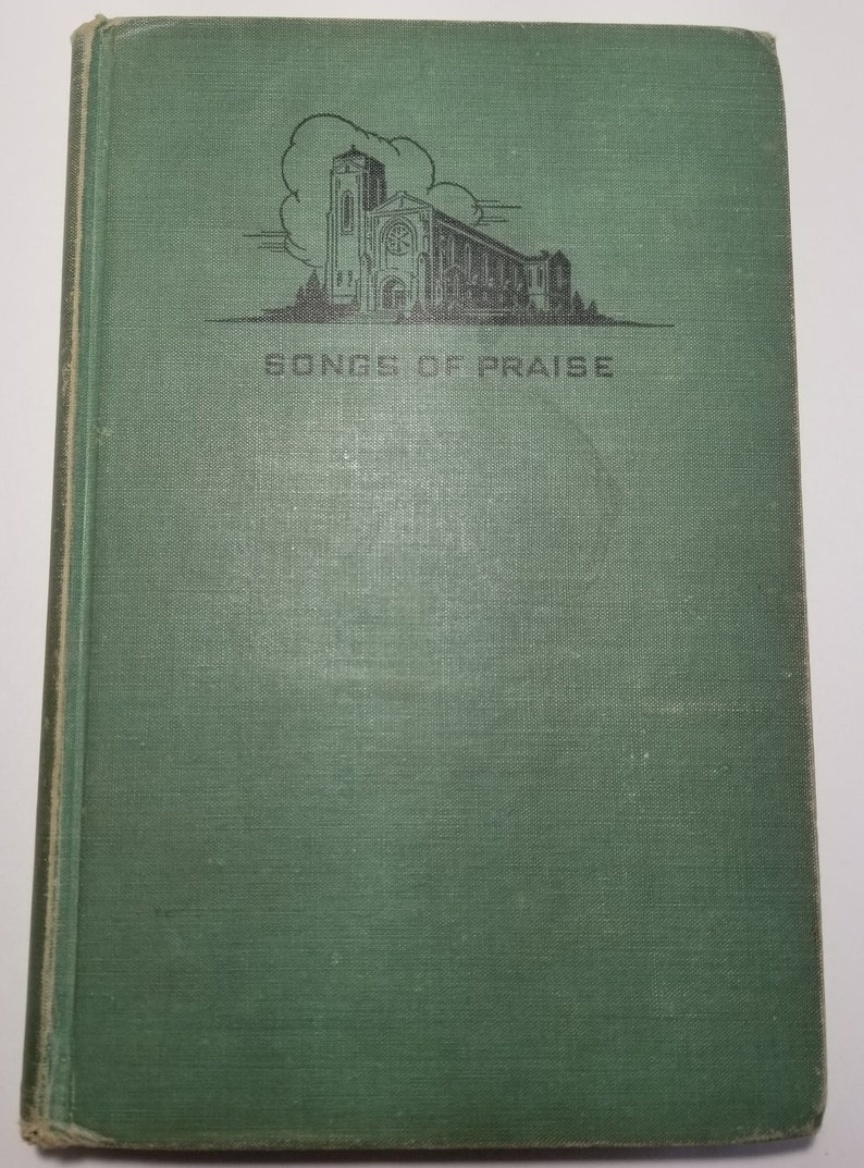 1957 Songs of Praise Green Hardback Christmas Church Holiday Prayers  Catechism Religious Songs Hymns