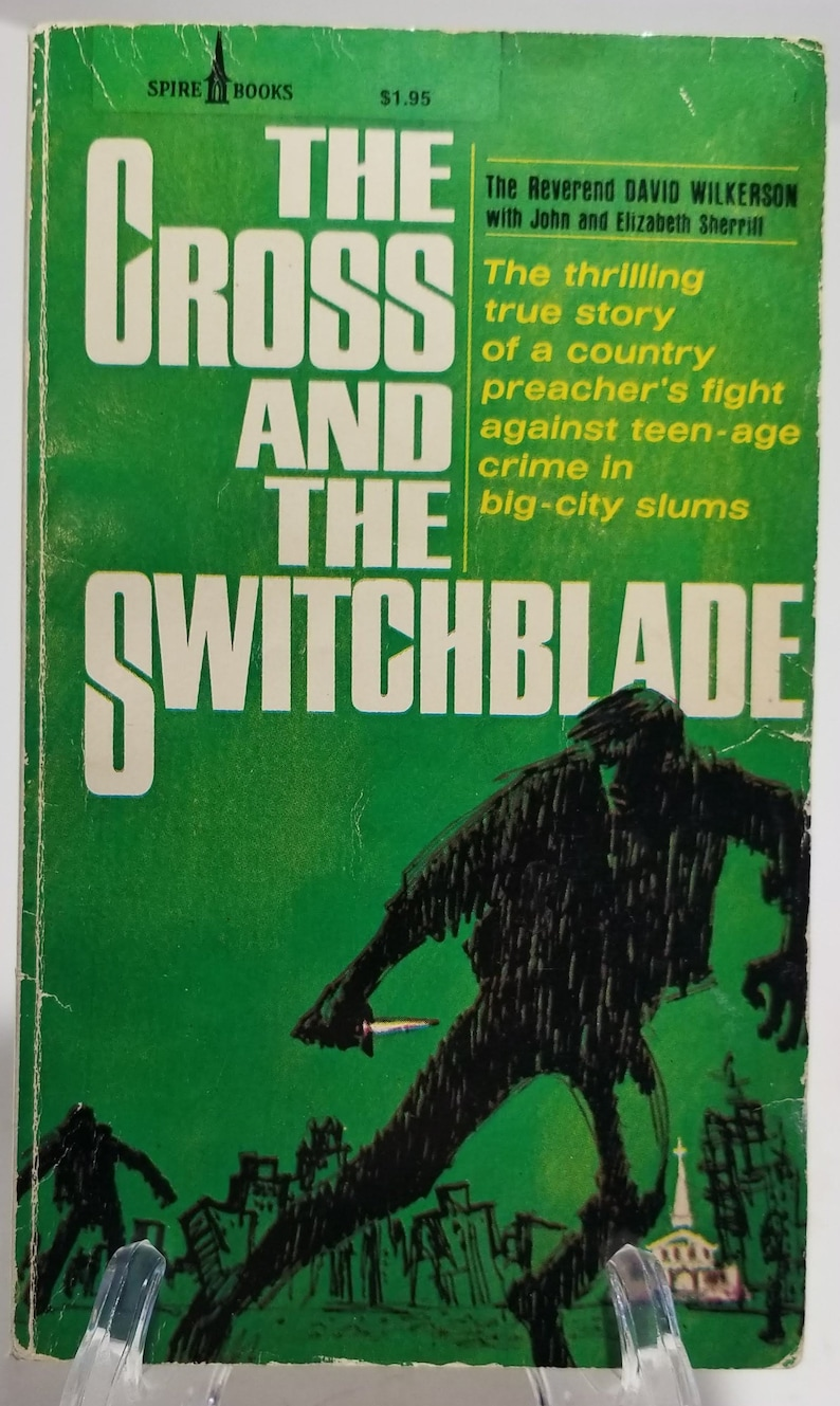 1980 The Cross and the Switchblade True Life Thriller David Wilkerson  Paperback