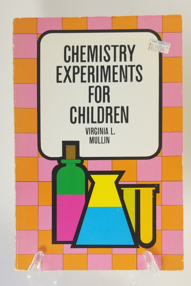 1968 Chemistry Experiments for Children Living Science Fun Projects to do  at Home Vintage Dover Paperback Homeschool Grow Crystal Garden