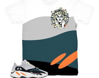 226d29713 Yeezy 700 Wave Runner Medusa White Sneaker Match Shirt