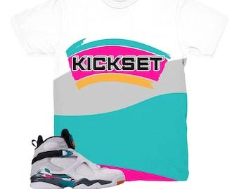 cb8500ec8a41ce Jordan 8 South Beach Kicks Sneaker Match Shirt