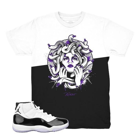 Jordan 11 Concord Medusa Split Sneaker Match Shirt Etsy