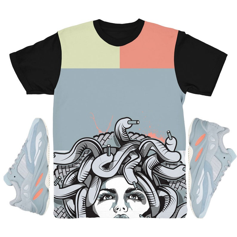4b165f841 Yeezy 700 Inertia Bottom Medusa Sneaker Match Shirt