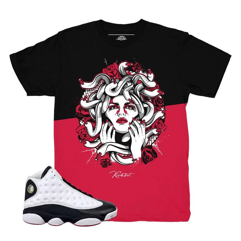 dd92f6ed9caf6c Jordan 13 He Got Game Split Medusa Shirt   Match Air Jordan 13