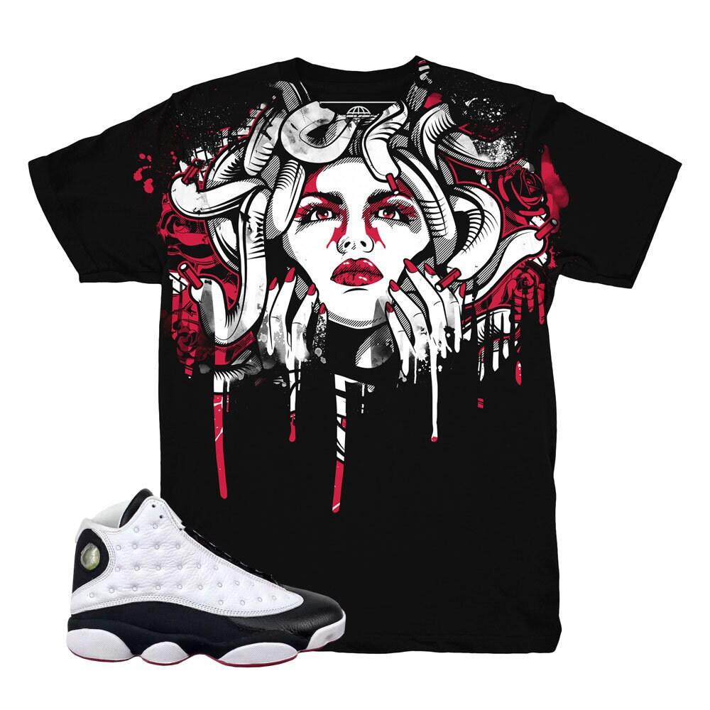 4de9b085ca00 Jordan 13 He Got Game Drip Medusa Shirt   Match Air Jordan 13