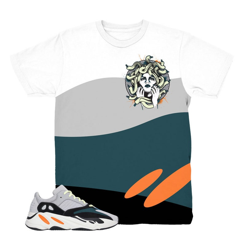 d932148cd Yeezy 700 Wave Runner Medusa White Sneaker Match Shirt