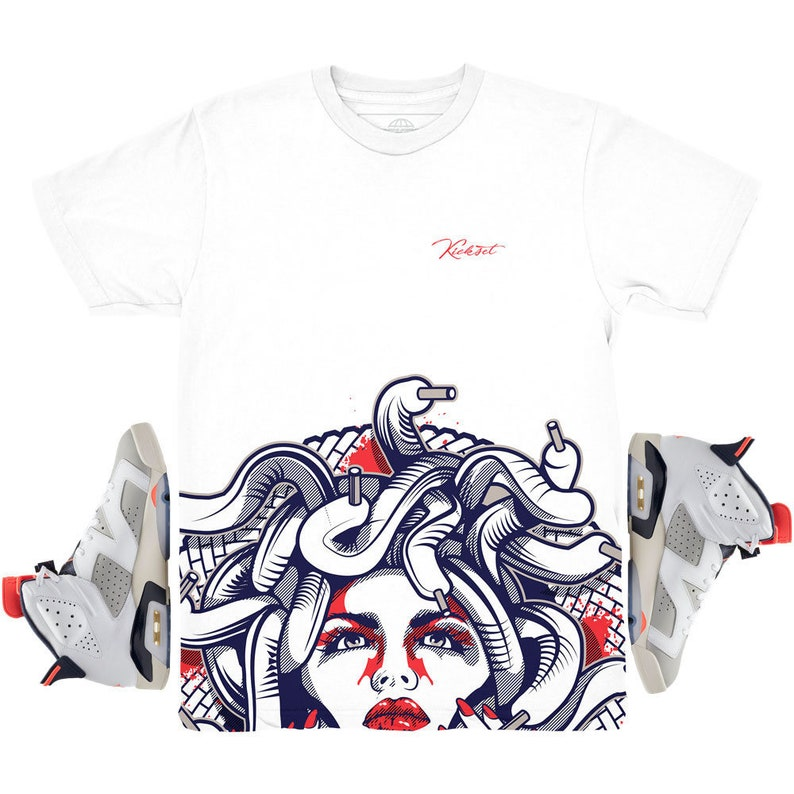 detailed look 00d37 43536 Jordan 6 Tinker Medusa Bottom Sneaker Match Shirt