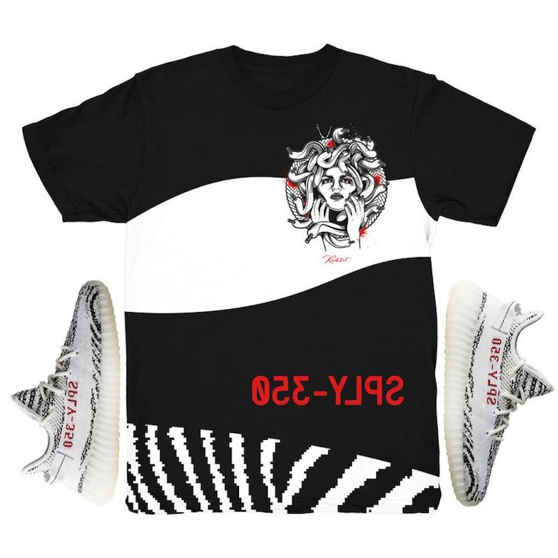 e7e7226a5 Yeezy Boost 350 V2 Zebra Medusa Sneaker Match Shirt