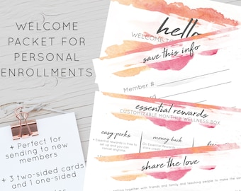 Welcome Card for New Personal Enrollments