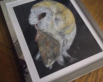 Acrylic Barn Owl