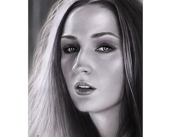 Items Similar To Realistic Portrait Drawing Daenerys Targaryen