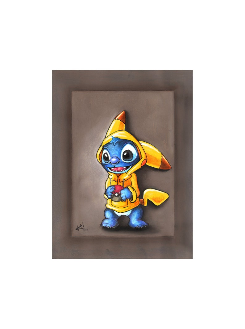Disegno Stitchlilo E Stitch Disney Realistico Disegno A Etsy