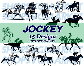 Jockey Svg Horse Racing Riding Ride Clipart Decal Stencil File Vinyl Cut Iron On Silhouette