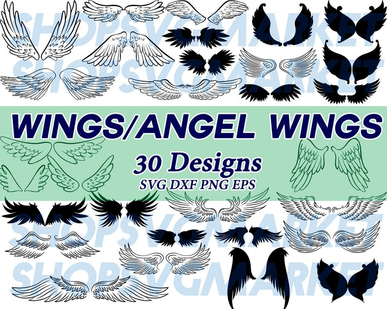 graphic relating to Angel Wing Stencil Printable referred to as wings svg, angel wings svg, angel svg, clipart, decal, stencil, printable record, downloadable document, slice record, cricut record, iron upon, vinyl