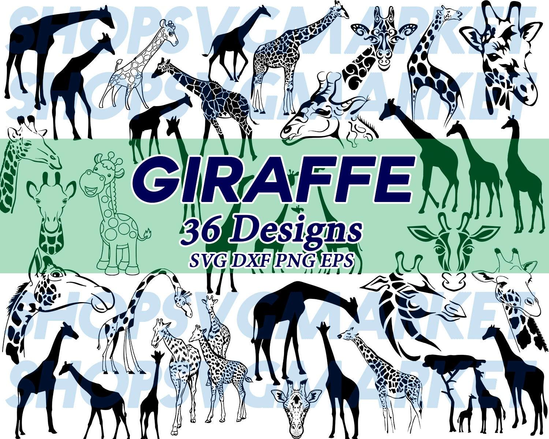 Giraffe Svg Wildlife Svg Zoo Svg Animal Svg Silhouette Etsy