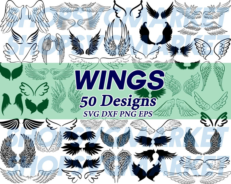 photo regarding Angel Wing Stencil Printable identified as wings svg, angel wing svg, angel svg, clipart, decal, stencil, vinyl, reduce document, iron upon, printable, dxf, png, eps, electronic report