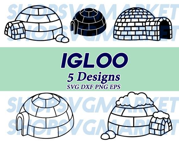 igloo svg, igloo clipart, winter svg, winter clipart, travel svg, ski svg,  Antarctica svg, north pole svg, decal, stencil, cut file
