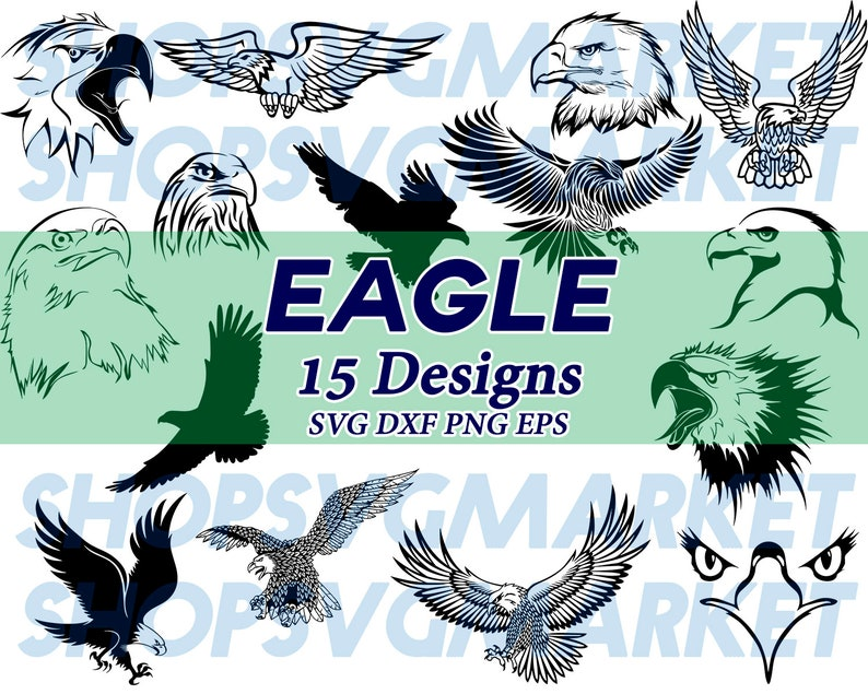 eagle svg, eagle head svg, wildlife svg, birds svg, flying eagle svg,  clipart, silhouette, decal, stencil, cut file, iron on