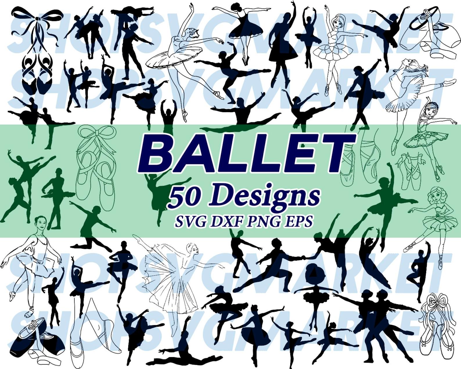 ballerina svg, ballet svg, dancer svg, ballet shoe svg, ballerina shoe svg, couple ballerina , clipart, silhouette, cut file, de