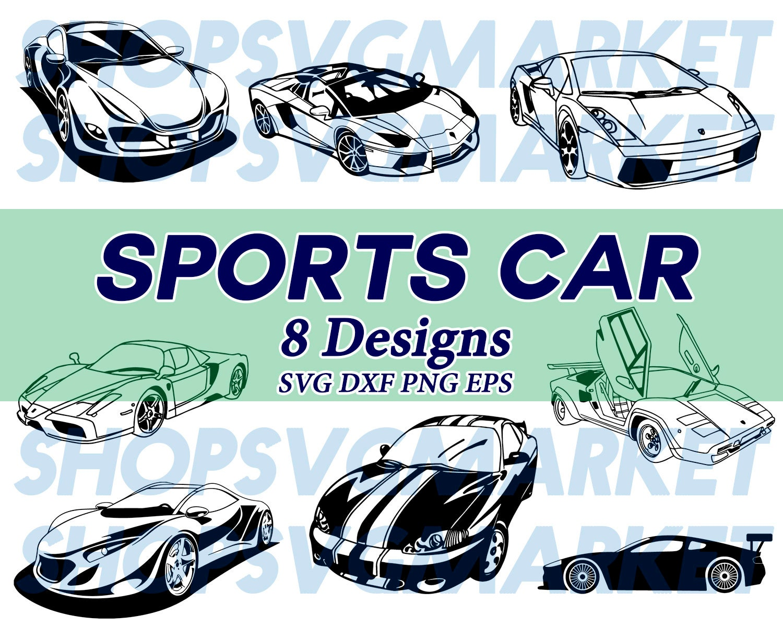 Sports Car Svg Super Car Svg Racing Car Svg Car Svg Lamborghini Svg Ferrari Svg Silhouette Cut File Stencil Iron On Decal