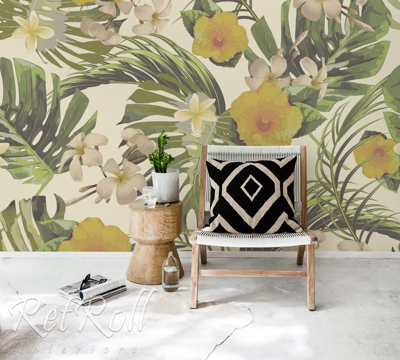 Tropical Dream Removable Wallpaper Wall Covering Self Etsy