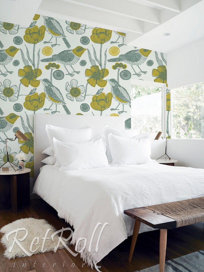Removable Wallpaper Temporary Wallpaper Apartment Renters