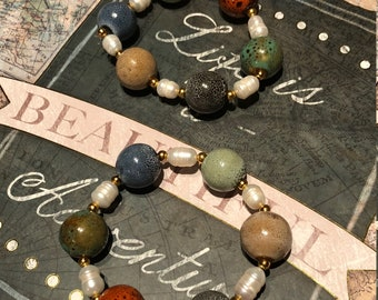 Multi color beads and pearls