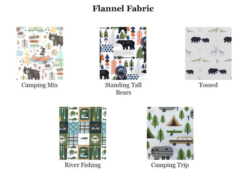 Baby Blanket Custom Baby Shower Bundle Crinkle Toy NatureCamping Burp Cloths