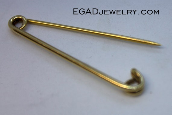 Vintage 14K Yellow Gold Safety Pin Gold Jewelry Sa