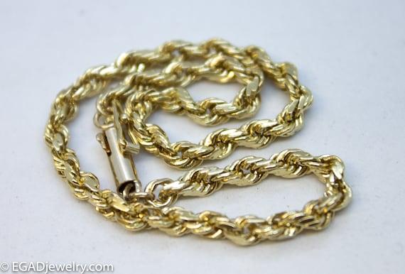 14K Yellow Gold Rope Bracelet, Fine jewelry, women