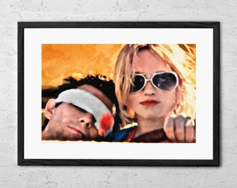 9b36f225b9f9 Clarence and Alabama - Painting - True Romance - True Romance Movie -  Christian Slater - Patricia Arquette - Movie Poster - Film Poster