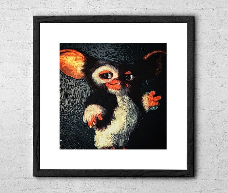Gremlins Poster Canvas Print Decor Choose Your Size !!!