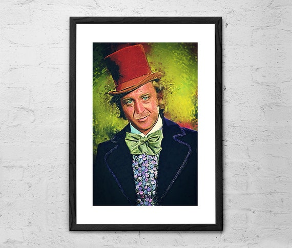Willy Wonka Gene Wilder Charlie And The Chocolate Factory Etsy