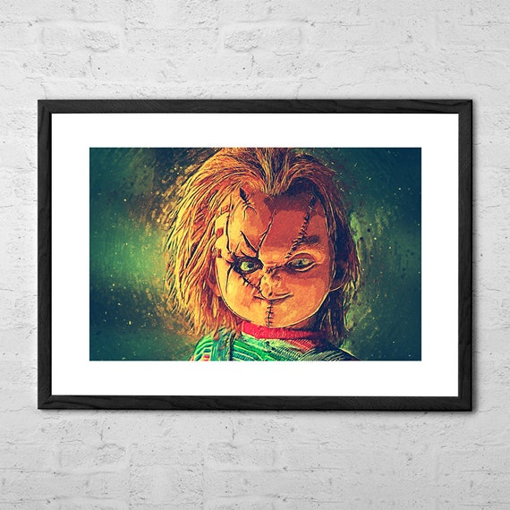 Chucky Illustration Chucky Puppe Film Poster Horror Etsy