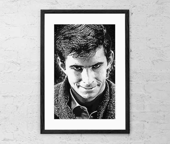 PSYCHO MOVIE SHOWER NORMAN BATES MOTEL ART POSTER PRINT ALFRED HITCHCOCK