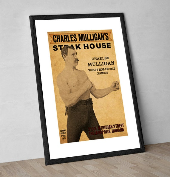Charles Mulligan/'s Steakhouse Poster Ron Swanson Parks And Recreation Rec Gift