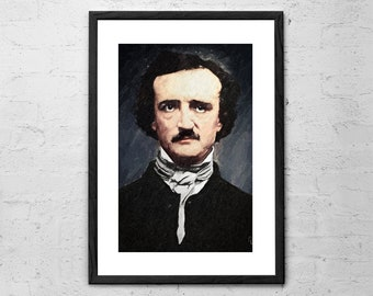 Edgar Allen Poe - Painting - Edgar Allen Poe Print - Edgar Allen Poe Poster - Gifts for Writers - Author Gifts - Poet Prints - Literature