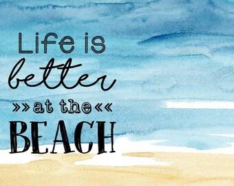 """Beach Frame 8""""x10"""" - Beach Chic - Summer Lovin' Fun!  - Unique gift for a beachy beauty :)"""
